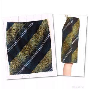 Classiques Entier Skirts - CLASSIQUES ENTIER WOOL PLAID STRAIGHT SUIT SKIRT